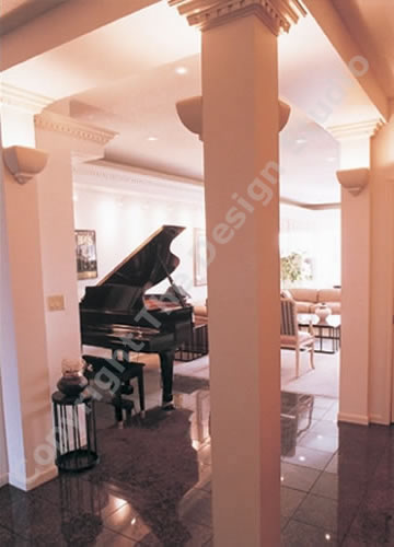 Residential interior piano room